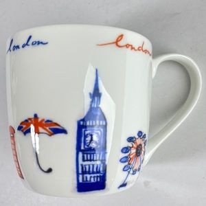 Rose of England London Fine Bone China Barrel Mug